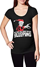 He Sees You When You're Sleeping - Freddy Xmas Side Ruched Maternity T-Shirt