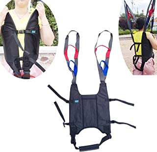 Full Body Patient Lift Sling Drive Medical Walking Standing Aids Carrier,Padded Chest Back Hip Support for Leg Thigh Arm Lumbar Relief Trainer Load Capacity 400 Lbs AnyBack