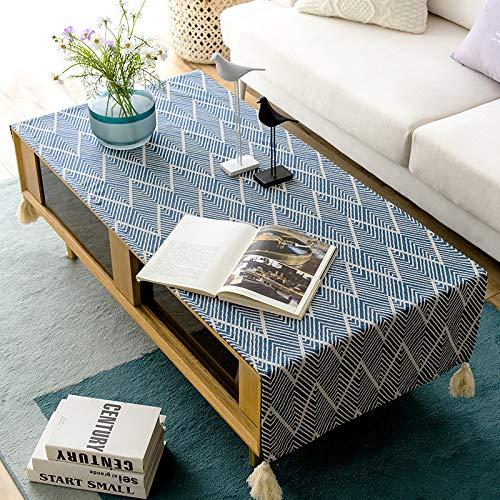 YXDZ - Mantel de mesa de café de estilo japonés de algodón para escritorio, mueble de TV