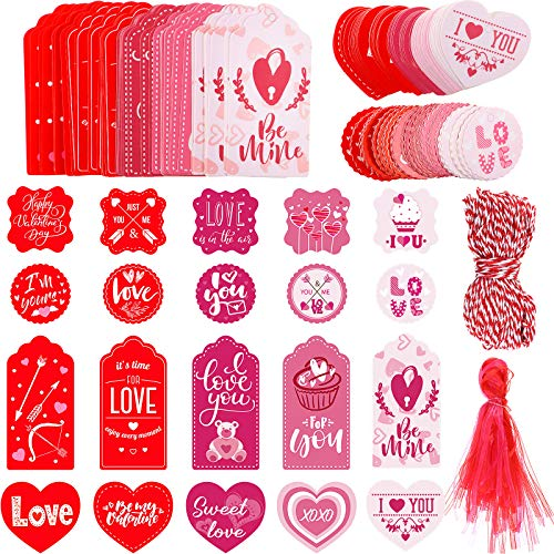200 Pieces 20 Styles Valentine's Day Tags