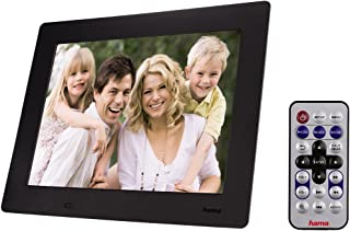 Hama 95250 Slimline Premium Digitaler Bilderrahmen (24,6 cm (9,7 Zoll), SD/SDHC/MMC Kartenslot, mini USB 2.0) schwarz