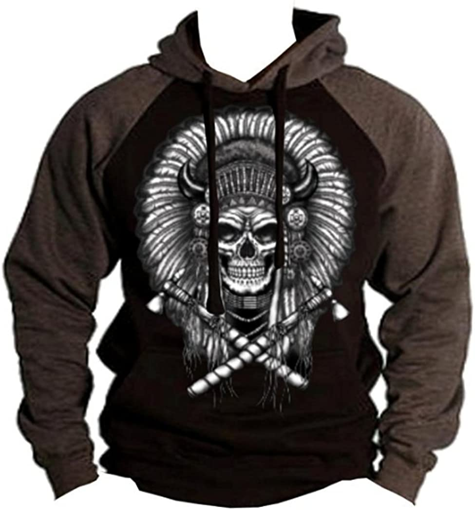 Indian At the price Headdress Hoodie Genuine Heritage Skull Spirit American Native Sw