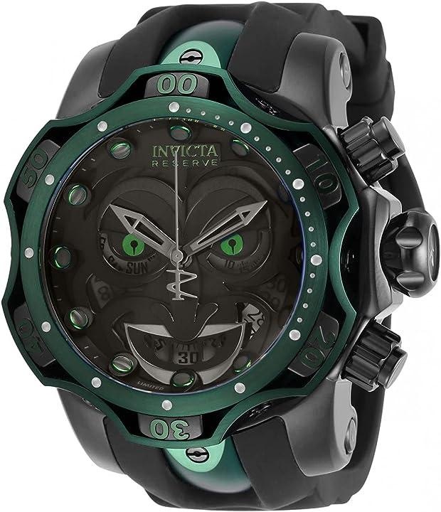 Orologio invicta dc comics - joker 30064 nero orologio uomo quarzo - 52.5mm