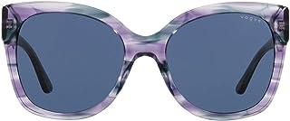 VOGUE Eyewear Women's VO5338S Cat Eye Sungl, Striped Purple Violet/Dark Blue, 54 mm
