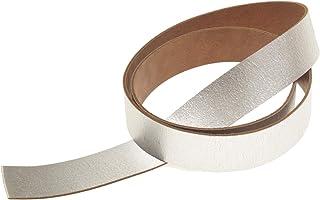 Lederriemen 130 cm Lang Craquelé Silber Design Gürtelleder Rindleder GB221