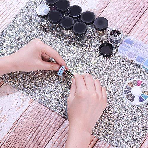 Nail Art Hand Pad, Kalolary Splitter Strass Faltbare Nail Art Rest Kissen Tischhalter Werkzeug, Salon Hand Rest Pad Tisch Matte Für Nail Art