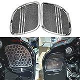 Rebacker Motorbike Tri-Line Speaker Grills Cover Trim Mesh for Harley Road Glide FLTRX 2015 2016...