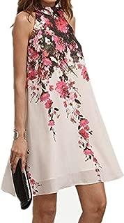 Women Dress,IEason Summer Short Dresses Casual Womens Floral Round Neck Cut Out Sleeveless Dress