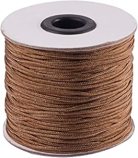 PH PandaHall 1.5mm/ 100 Yards Camel Nylon Braided Lift Shade Cord for Blind Shade Mini Blind Cord Replacement String for Windows, Roman Shade Repair