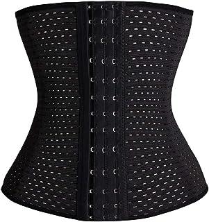 Everbellus Breathable Latex Corset Training Waist Cincher for Women
