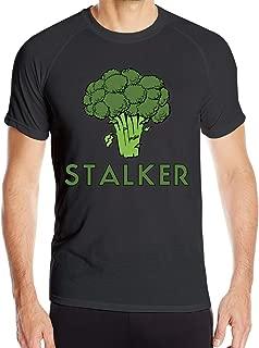Men's Stalker Funny Broccoli Fun Humor Pun Running Dry Fit Wicking Short Sleeve T Shirt