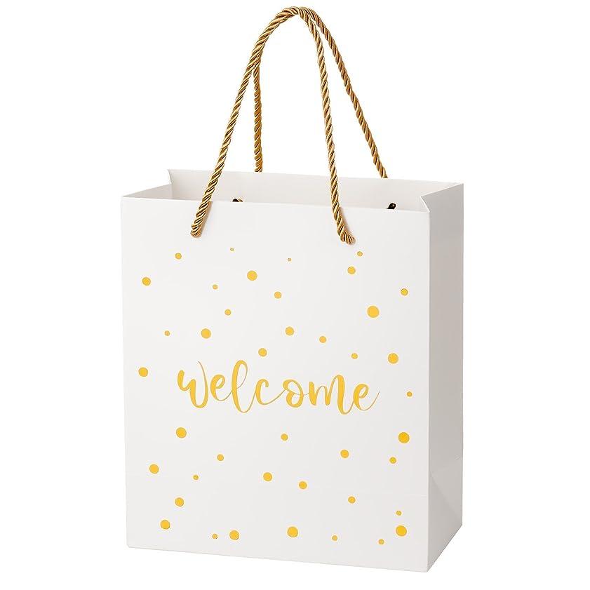 分数本能対処Crisky 結婚式用 ドット歓迎バッグは25個9