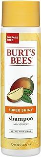 Burt's Bees Super Shiny Mango Shampoo, Sulfate-Free Shampoo - 10 Ounce Bottle