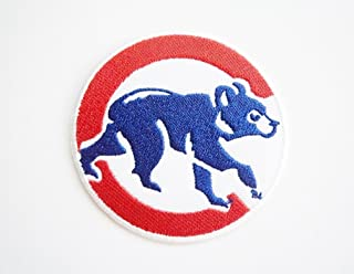 zMBL zMLB CChicago Cubs Bear - Round Baseball Sport Team Iron On Patch