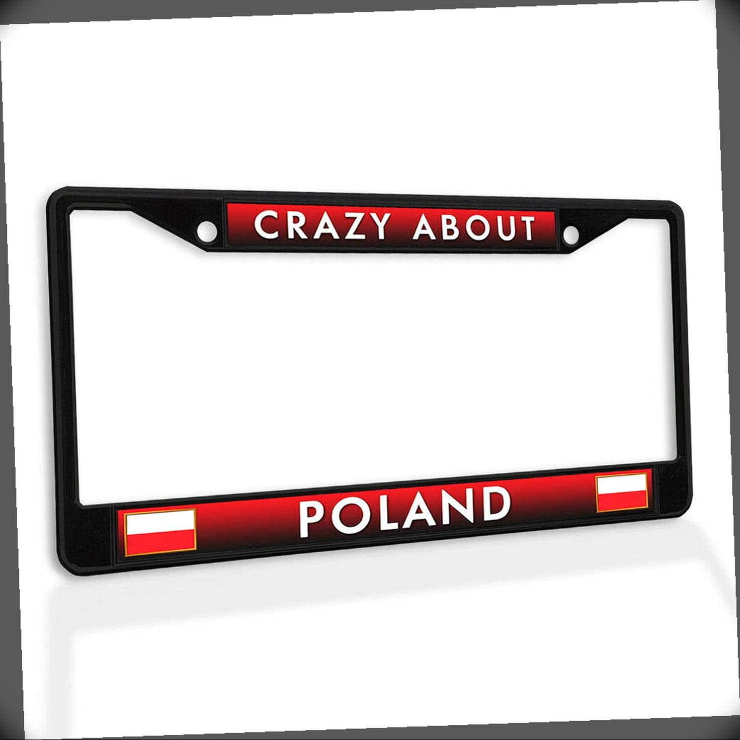 High quality new New License Plate Frame Crazy About Metal Insert Fram Car Poland Tucson Mall