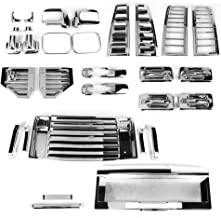 Handle Lamp Mirror Vent Cover License Compatible With 2006-2009 HUMMER H2 | ABS Chrome Added On Bodykit by IKON MOTORSPORTS | 2007 2008