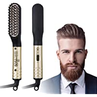 Charminer Electric Hot Beard Straightening Comb with Dual Voltage 110-240V (Gold)