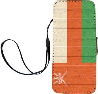Rikki Knight Oman - Funda con Tapa para iPhone 5 y 5S, diseño de Bandera de Omán en Madera Envejecida