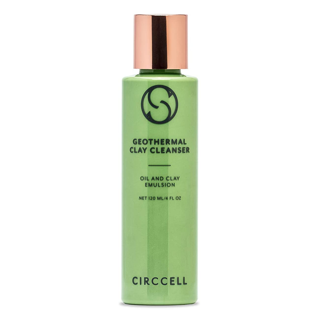 CIRCCELL Geothermal Clay Cleanser - Detoxifying & Hydrating Formula - Use as Clay Mask or Cleanser - Good for All Skin Types - 120 ml - Vegan & Cruelty Free
