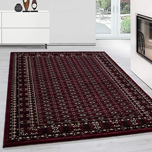Teppich Orientteppich Wohnzimmer Klassische Optik historische Muster Rot, Maße:200 cm x 290 cm