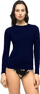 Private Island Women UPF50+ Long Sleeve Top Swimsuit T- Shirt Rash Guard Workout (RGT)
