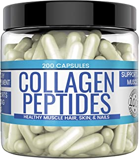 Collagen Peptide Capsules, 200 Capsules (1,500 MG per Serving) (33-Day