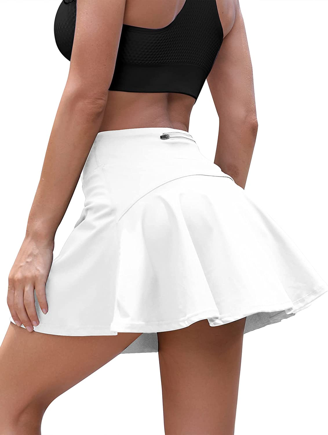 Loovoo Women's Tennis Skirt with Skorts Pockets Golf Waist In a popularity Max 58% OFF High