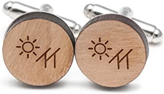 Wooden Accessories Company Solar Panel Cufflinks, Wood Cufflinks Hand Made in The USA