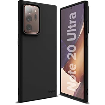 Ringke Air-S Compatible with Galaxy Note 20 Ultra Case 5G, Premium Smooth Matte Satin Texture TPU Thin Flexible Soft Fit Phone Cover (2020) - Black