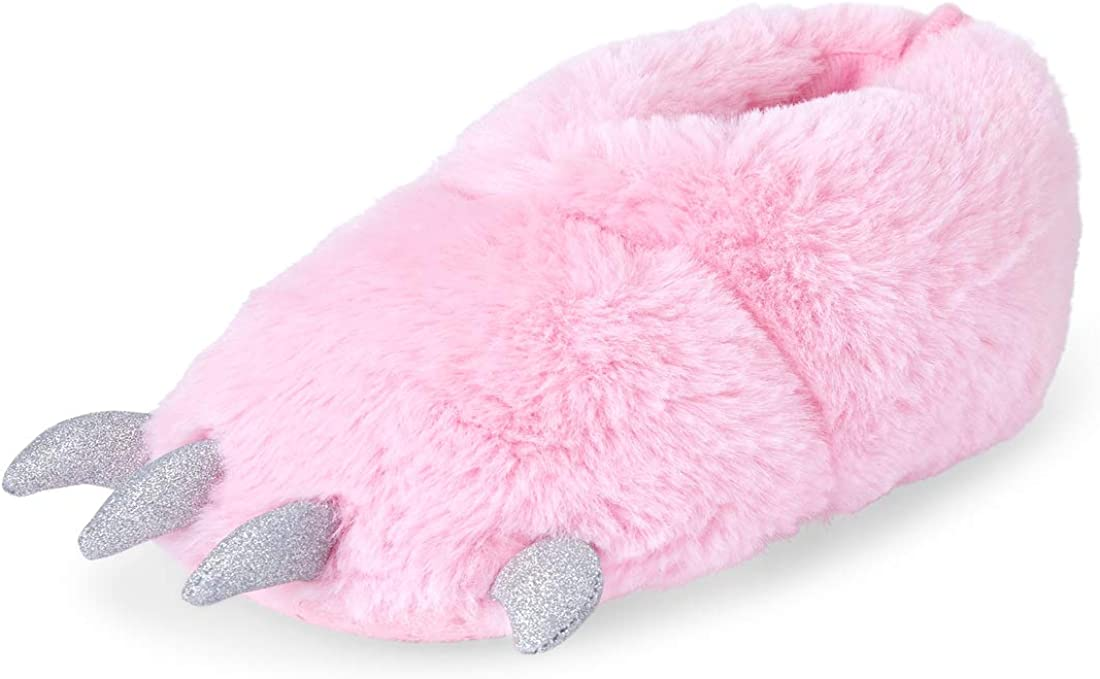 The Children's Place Unisex-Child Dino Foot Slippers