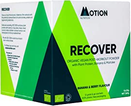 Motion Nutrition Recover Post-Workout Plant-Based Protein Shake Recover Mind Body Organic Vegan Berry Banana Flavour with Electrolytes Micronutrients Replenishes Rehydrates 12 x 15g Estimated Price : £ 21,95