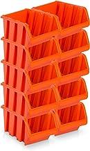 10pieza Visión Cajas de almacenamiento tamaño 5–rotbraun (29x 20x 15cm)