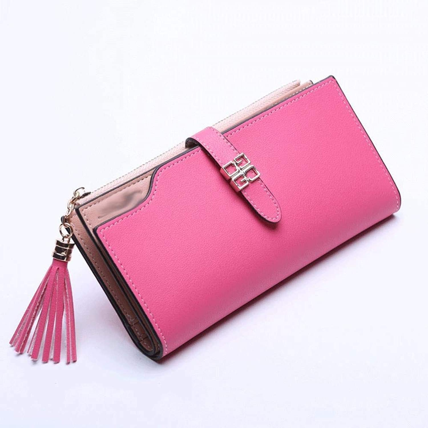 Girls Purse Women's Wallet Fashion LargeCapacity MultiCard Buckle Hand Bag Mobile Bag (color   F)