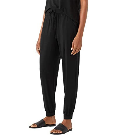 Eileen Fisher Petite Ankle Track Pants in Fine Stretch Jersey Knit