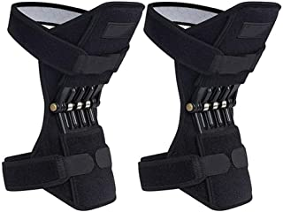 Hamkaw Knee Booster Brace, 1 Pair Breathable Knee Protection Brace Powerful Rebound Spring Force Joint Support Knee Pads for Mountaineering Camping Hiking
