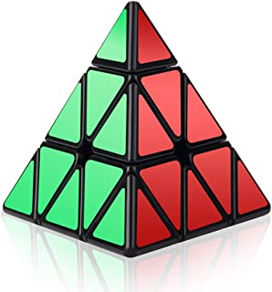 Roxenda Speed Cube, 3x3x3 Pyramid Speed Cube Triangle Puzzle Magic Cube Enhanced Edition - Turns Quicker and More Precisely Than Original