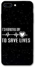 iPhone 8 Plus Case/iPhone 7 Plus Case, It's A Beautiful Day to Save Lives Silicone Gel Rubber Thin Mobile Phone Cover Case Compatible with iPhone 7 Plus / 8 Plus