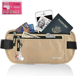 Travel Money Belt Passport Holder with RFID Blocking Secure Hidden Waist Wallet,Undercover Fanny Pack