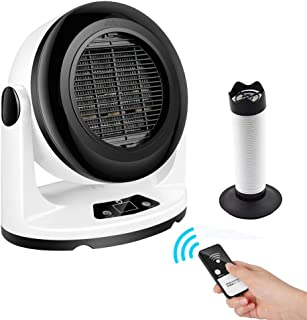 Blu7ive Portable Ceramic Space Heater Personal Oscillation Fan Heaters Overheat Protection for Home Office Bathroom with Heat Pipe Can Dry Clothes, Socks, Shoes