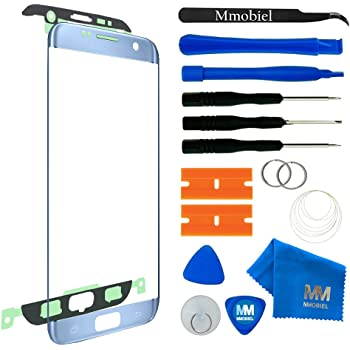 MMOBIEL Front Glass Replacement Compatible with Samsung Galaxy S7 Edge (Blue) Display Touchscreen incl Tool Kit