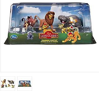 The Lion King - Lion Guard Birthday Cake Topper Figure Set Featuring Kion, Simba, Fuli, Timon with Pumbaa, Beshte with Ono...