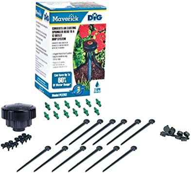 Amazon Com Dig Pc1204 Maverick 12 Outlet Retrofit Drip Kit With 1 2 Fpt Black Automatic Lawn Sprinklers And Drippers Garden Outdoor