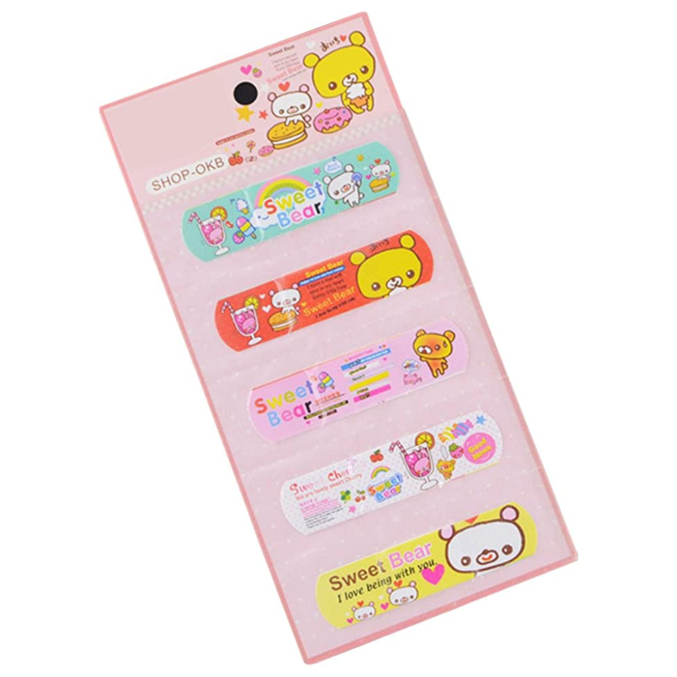 Refaxi 5Pcs Variety Pattern Bandages Cute Funny Cartoon Band Aid For Kid Children Child