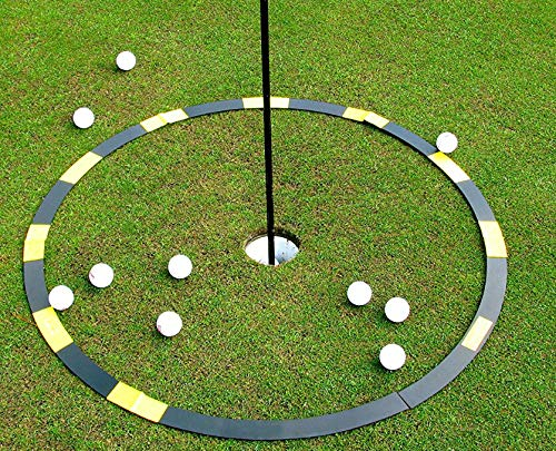 Resource Academy Golf Target Circle – 3 ft Circle as Golf Training Aid – Ideal for Chipping and Pitching – Super Thin with Multiple Configurations