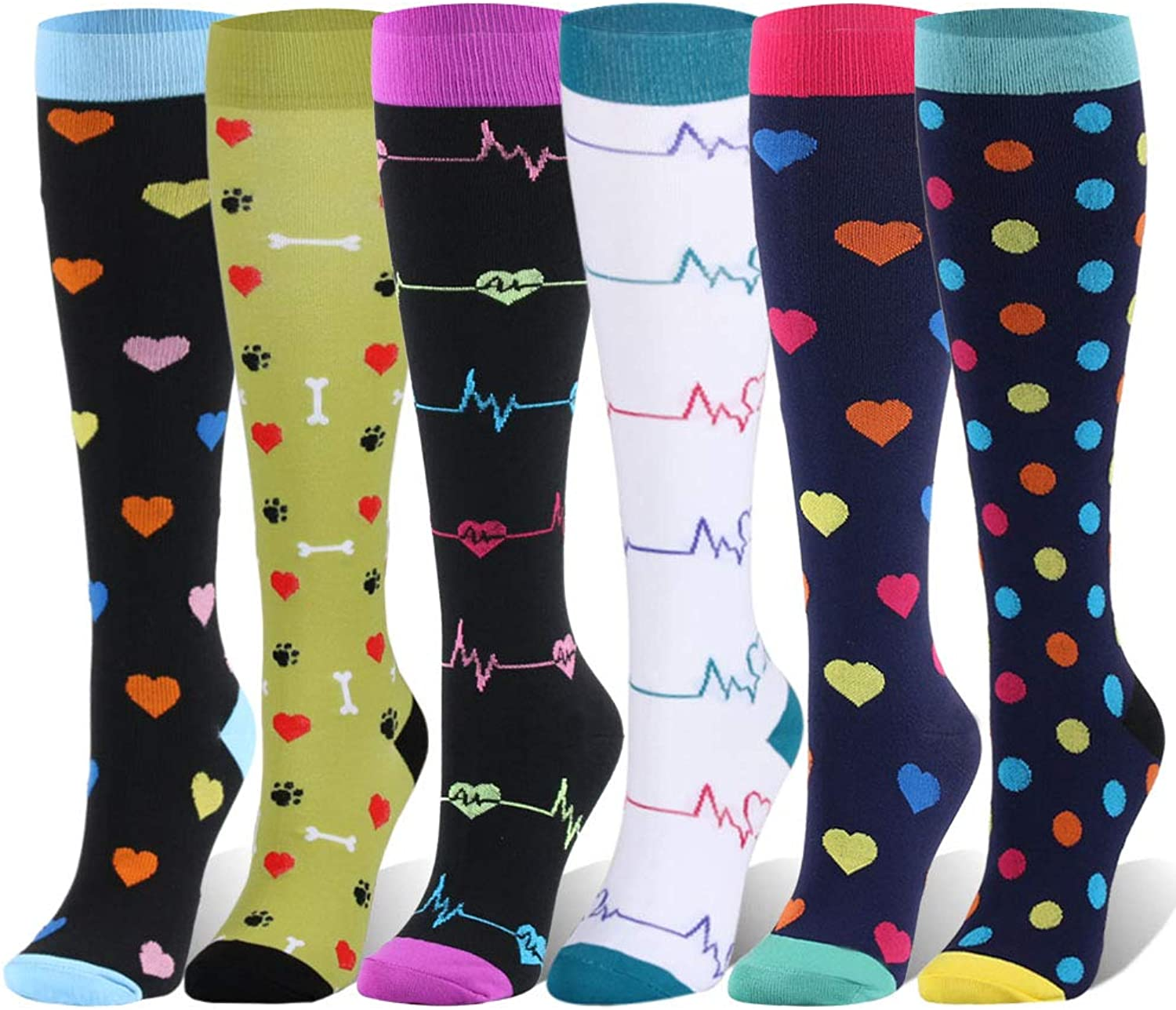 Compression Socks For Women and Men  2025mmHg 7 Pairs BEST Stockings for Running, Athletic, Edema, Diabetic, Varicose Veins, Travel, Pregnancy & Maternity