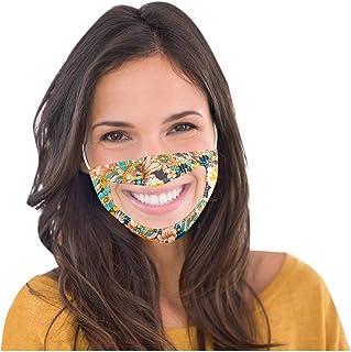 MAOIMOR 5PC Smile Communicator 𝑀𝒶𝓈𝒸𝒶𝓇𝒾𝓁𝓁𝒶 con vinilo transparente Expresión visible Lectura de labios