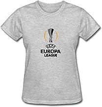 XIULUAN Women's UEFA Europa League 2016 Logo T-shirt Short Sleeve