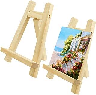 TANCUDER 2 PCS Mini Chevalet de Table en Bois Petit Chevalet Peinture 15 x 20 cm Petit Chevalet de Table Mariage Chevalet ...