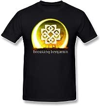 Toomi Men's Golden Logo Breaking Benjamin World Tour 2016 T-Shirts