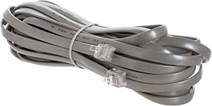 Cmple - Telephone Extension Cord Cable, 6 Conductor Wire with RJ12 6P6C Plug Cable for Landline Telephone - 25 FT, Gray
